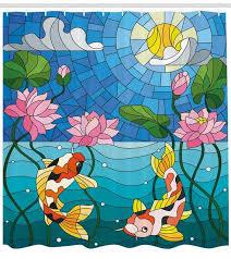 lunarable koi fish shower curtain