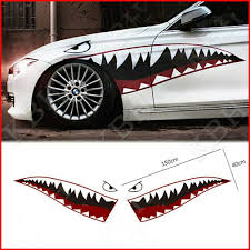 59 Full Size Shark Mouth Teeth Flying Tiger Die Cut Vinyl Decal Sticker Car Log Ebay