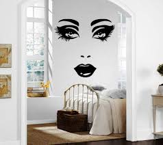 Amazon Com Female Face Sexy Lips Beautiful Eyes Decor Wall Mural Vinyl Decal Sticker P417 Home Kitchen