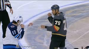 Adam Lowry vs. Ryan Reaves, November 02, 2019 - Winnipeg Jets vs. Vegas  Golden Knights