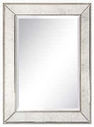 champagne beed beveled wall mirror 40
