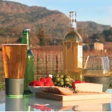 stemless wine glassware set that chills