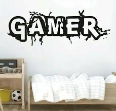 Gamer Wall Decal Sticker Video Game Art Childs Bedroom Game Room 7 87 X 22 83 Ebay