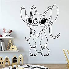 Amazon Com Girlfriend Angel Wall Art Vinyl Sticker Lilo Stitch Wall Vinyl Decal Decor For Home Baby Chids Kids Room Wallpaper 57x43cm Baby