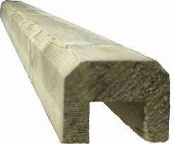 Rebated Capping Rail Flat 38x50mm Totem Timber