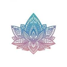 Beautiful Tribal Henna Pattern Lotus Flower Pink Blue Ombre Vinyl Decal Sticker 4 Wide Carkart