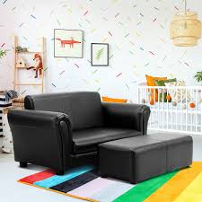Shop Costway Kids Sofa Armrest Chair Couch Lounge In Black On Sale Overstock 18242565