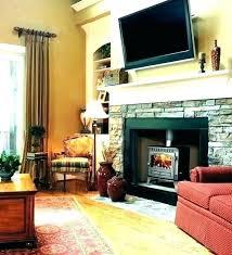 over fireplace decor above ideas stone