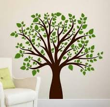Black Tree With Green Leaf Wall Stickers Vinyl Decal Mural Home Decor Removable Ebay