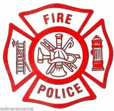 Fire Police Fire Department Decal Fire Police Inside Window Static Cling Decal Ebay