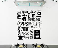 Coffee Decal Espresso Subway Art Coffee Wall Decal Kitchen Wall Decal Coffee Shop Wall Art Coffee Shop Decor