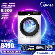 Mua Máy Giặt Cửa Trước 9.5kg Midea MFK95-1401 (Diệt Khuẩn, 14 Chế Độ Giặt)  - Hàng Phân Phối Chính Hãng Bảo Hành 2 Năm giá chỉ 9.490.000₫