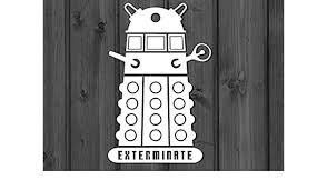 Dalek Car Window Decal Dr Who Doctor Who Vinyl Sticker Vinyl Decal Sticker Decal Car Sticker Car Decal Window Decal Car Window Decal Amazon Co Uk Diy Tools