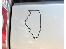 Nashville Decals Illinois Vinyl Decal Laptop Car Truck Bumper Window Sticker 6 5 X 3 5 Black Newegg Com