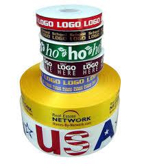 imprinted ribbon logo gift ribbon