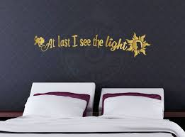 At Last I See The Light Tangled Inspired Quote Disney Pixar Wall Vinyl Decal Home Decor Choose Your O Vinyl Wall Decals Tangled Lights Vinyl Decals Quotes