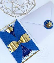 12 Invitaciones De Fiesta De Cumpleanos De Royal Prince Blue Y