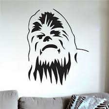 Chewbacca Wall Decal Decor Star Wars Wall Vinyl Wookie Chewie Wall Art G68 Ebay
