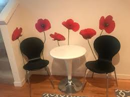 Poppies At Play Giant Wall Decals Roommates Decor