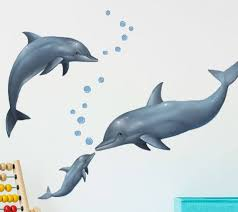 Dolphin Wall Decals Kids Room Decor Stickers Ocean Mural Etsy