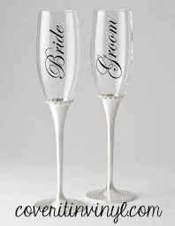 Bride Groom Diy Vinyl Decals For Toasting Flutes 2554483 Weddbook