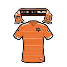 Houston Dynamo Texas Sticker Sticker Decal Of Team Jersey Replica And Fan Scarf Apply