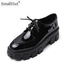 patent leather platform shoes women