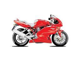 Red Ducati Motorcycle Wall Decal Wallmonkeys Com