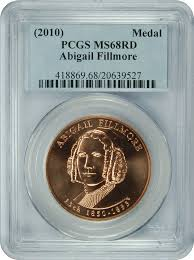 2010 No Mint Mark Abigail Fillmore Medal RD PCGS MS-68 at Amazon's  Collectible Coins Store