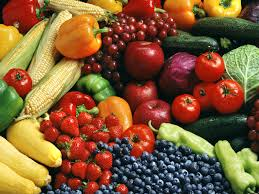 fresh fruits and vegetables food