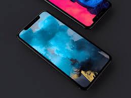 dark iphone x mockup free psd