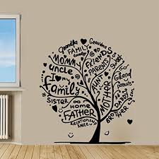 Amazon Com Family Tree Silhouette Vinyl Wall Words Decal Sticker Graphic Handmade