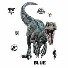 Jurassic World 2 Blue Velociraptor Giant Wall Decal Target