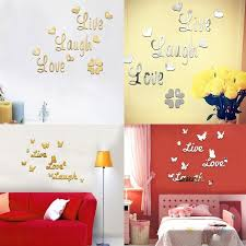 New Live Laugh Love Quote Removable Wall Art Stickers Mirror Decal Diy Room Decor Wish