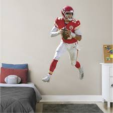 Fathead Patrick Mahomes Life Size Officially Licensed Nfl Removable Wall Decal Walmart Com Walmart Com