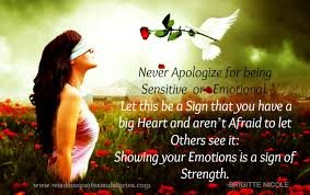 showing your emotions is a sign of strength wisdom quotes stories