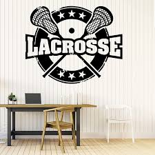 Amazon Com 22 X 30 In Lacrosse Wall Decal Team Player Club Sports Wall Decal Sticker Your Custom Name Personalised Decor For Boys Girls Kids Room Bedroom Inspirational Motivational Art Poster