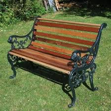 garden bench for parks cast iron park
