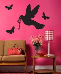 Vinyl Wall Decal Sticker Dove With Key 1435 Stickerbrand