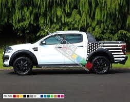 Destorder Us Flag Decal Sticker Vinyl Bed Lignt Kit Compatible With Ford Ranger T6 2011 2017 Tail American Flag Sticker Ultimateprocy