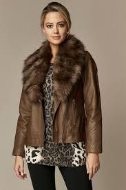 wallis petite chocolate faux fur