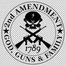 Second Amendment Skull With Ar15 God Guns Family Decal Sticker 2nd Amendment Ebay