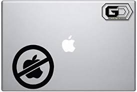 Amazon Com Anti Apple Vinyl Macbook Laptop Pc Computer Decal Stickers Computers Accessories