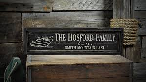 boat sign rustic hand made vintage wood