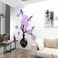 29 Off C1068 Acrylic Plum Blossom Vase 3d Wall Sticker Rosegal