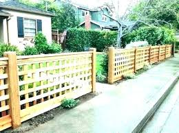 fence options for front yard ryanhome co