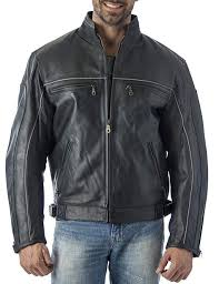 mens vented leather motorcycle jacket