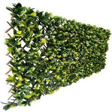 Greensmart Decor 40 In X 80 In Artificial Lemon Leaf Lattice Screen Mz 4126 The Home Depot In 2020 Lattice Screen Artificial Lemon Wall Exterior