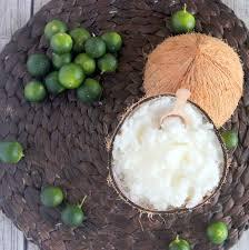 homemade coconut key lime sugar scrub