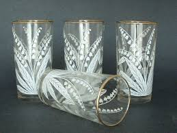 vintage lily of the valley glass